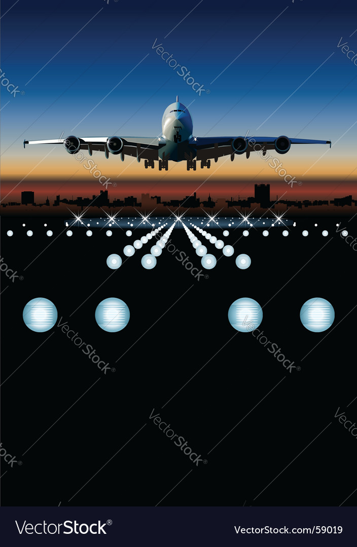 Airbus at sunrise vector | Price: 3 Credit (USD $3)