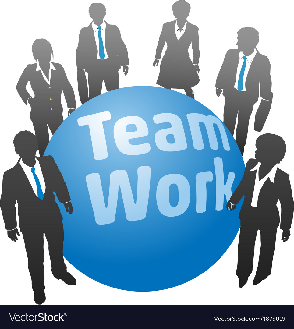 Business people team work ball vector | Price: 1 Credit (USD $1)