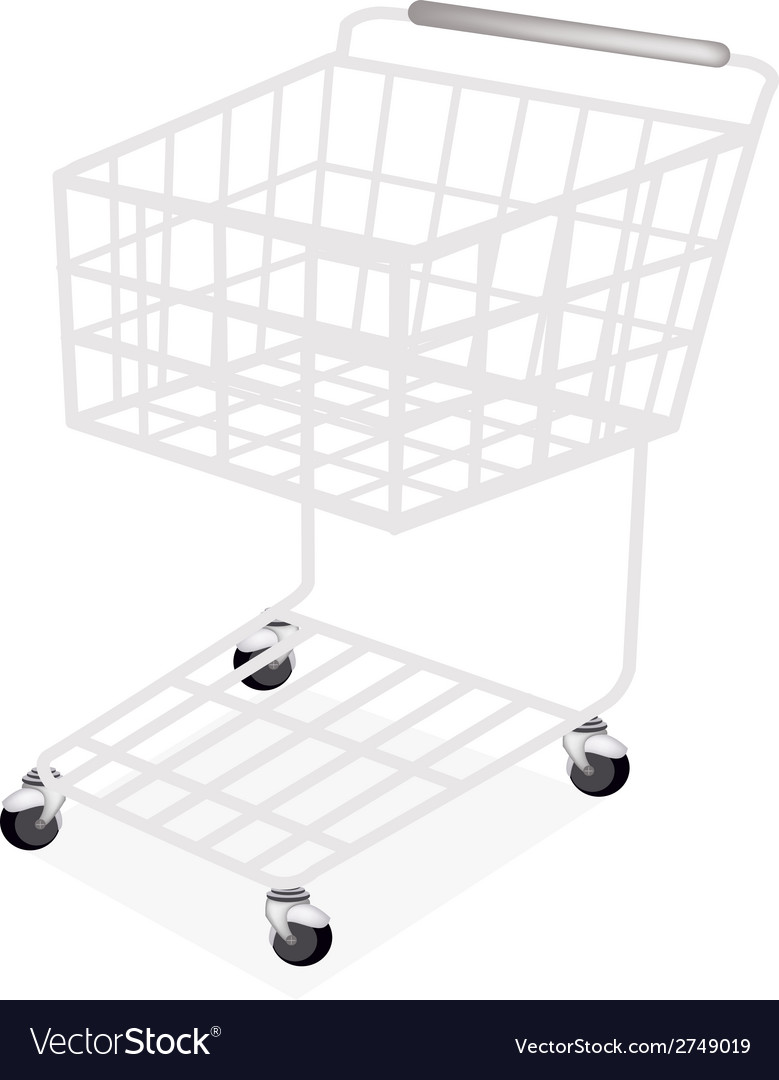 Empty supermarket shopping cart vector | Price: 1 Credit (USD $1)