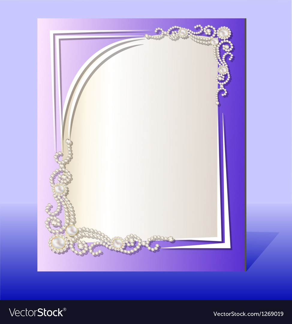 Frame for photo with precious stones vector | Price: 1 Credit (USD $1)