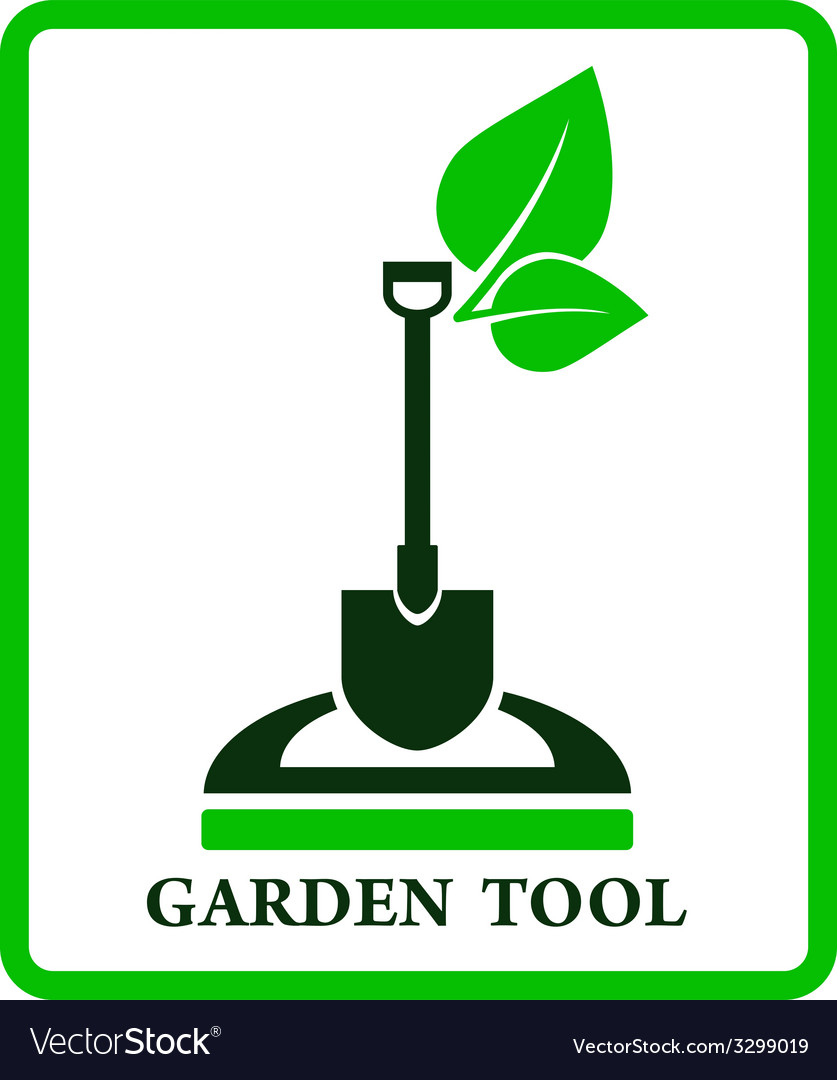 Green garden sign vector | Price: 1 Credit (USD $1)