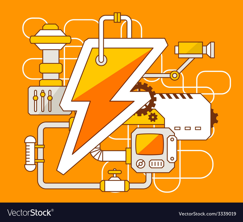 Industrial of the mechanism of lightning vector | Price: 3 Credit (USD $3)