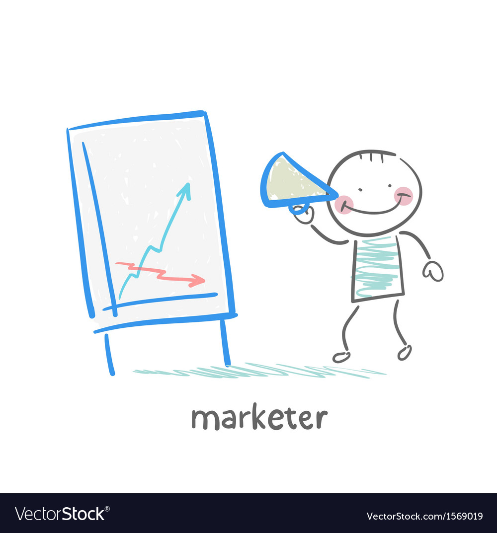 Marketer tells the story of schedule vector | Price: 1 Credit (USD $1)