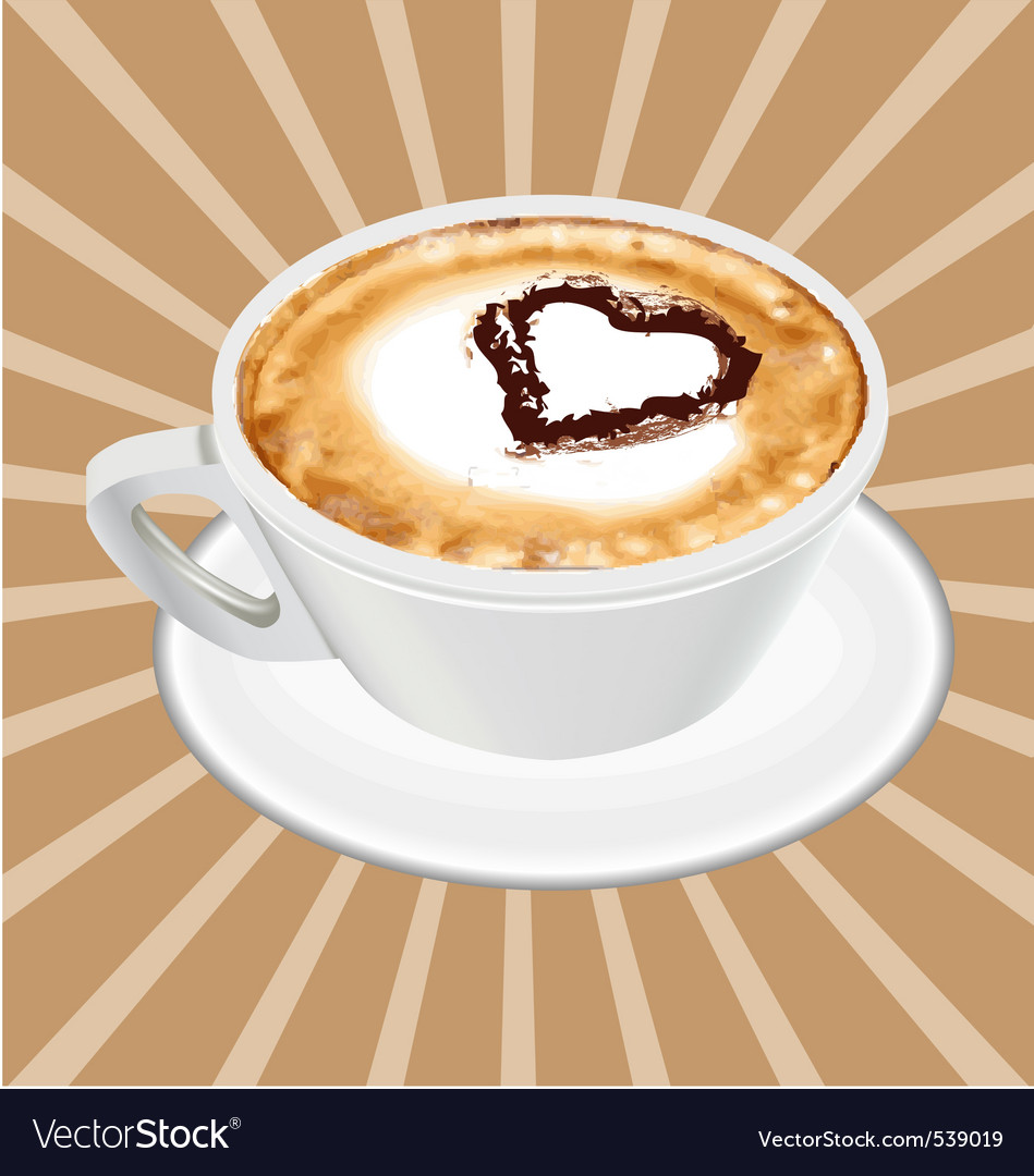 Realistic cappuccino cup vector | Price: 1 Credit (USD $1)