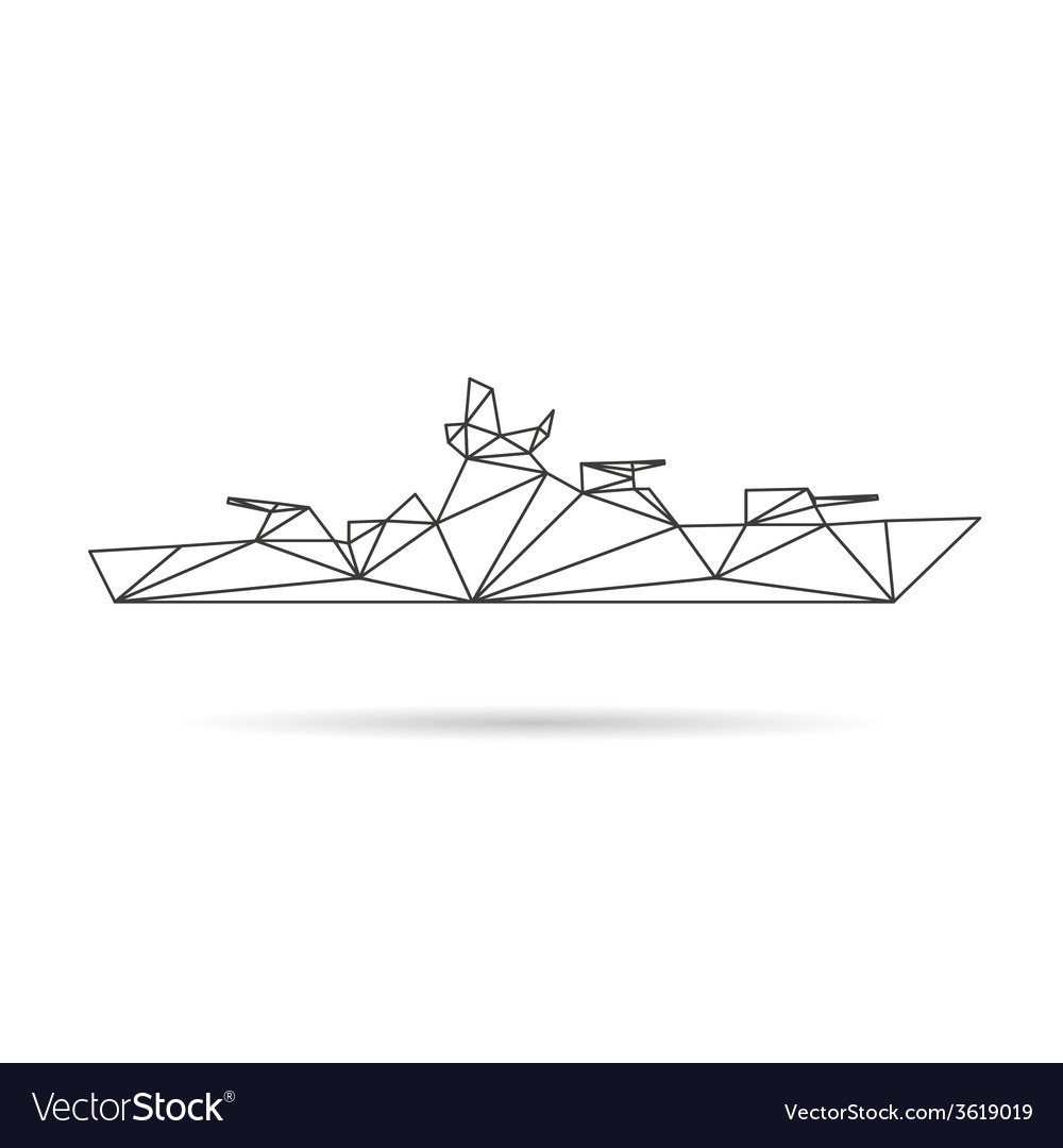 Ship abstract isolated vector | Price: 1 Credit (USD $1)