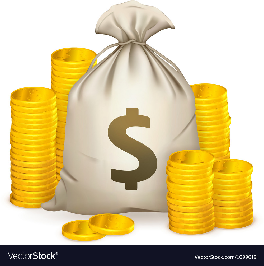 Stacks of coins and money bag vector   Price: 1 Credit (USD $1)