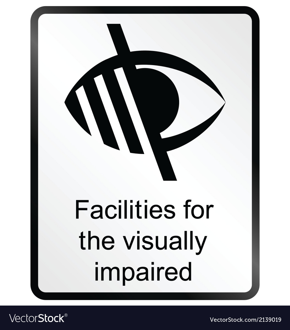 Visually impaired information sign vector | Price: 1 Credit (USD $1)