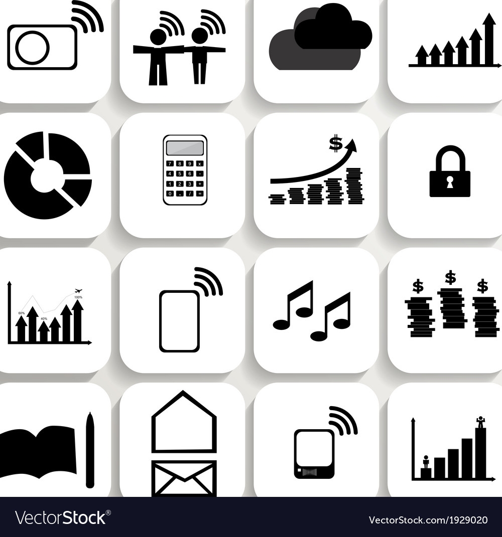 Application icons design set 5 vector | Price: 1 Credit (USD $1)