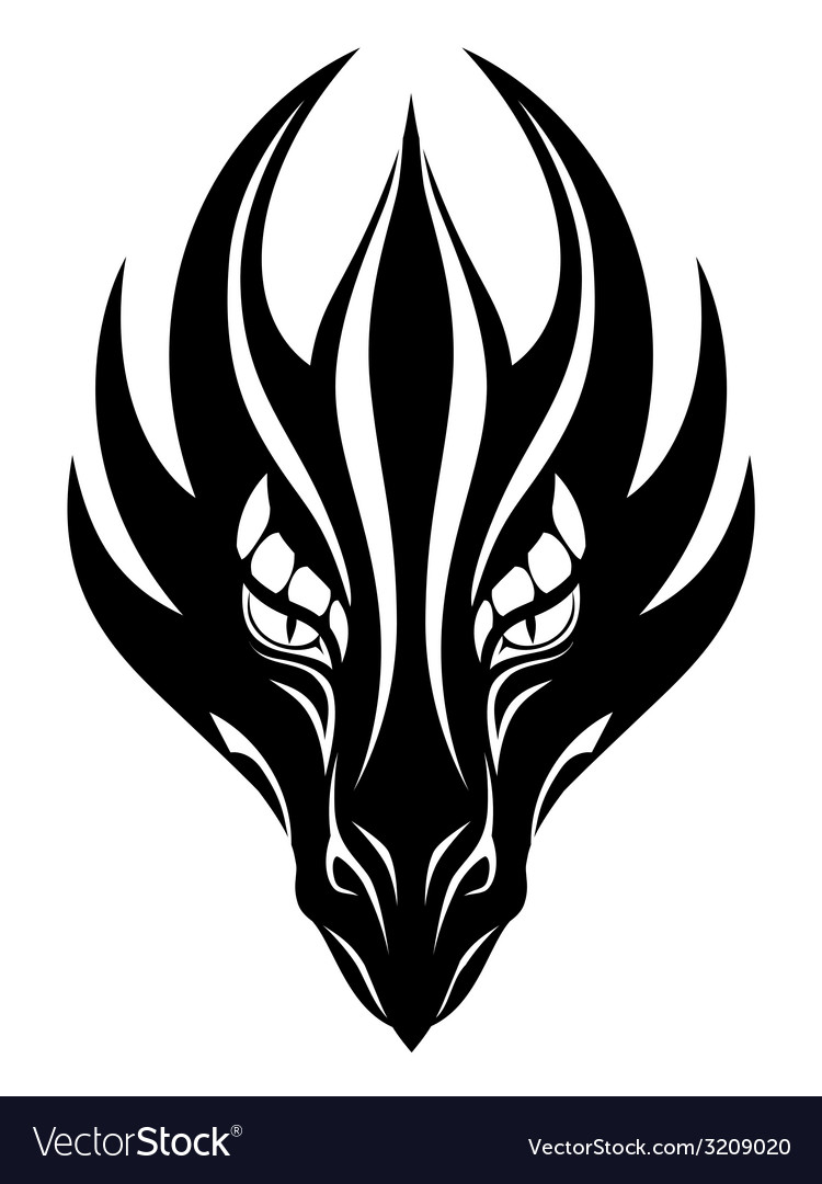 Dragon face symbol vector | Price: 1 Credit (USD $1)