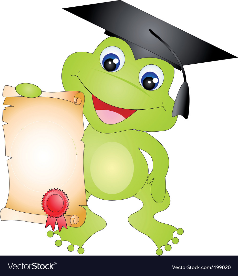 Frog graduation vector | Price: 1 Credit (USD $1)