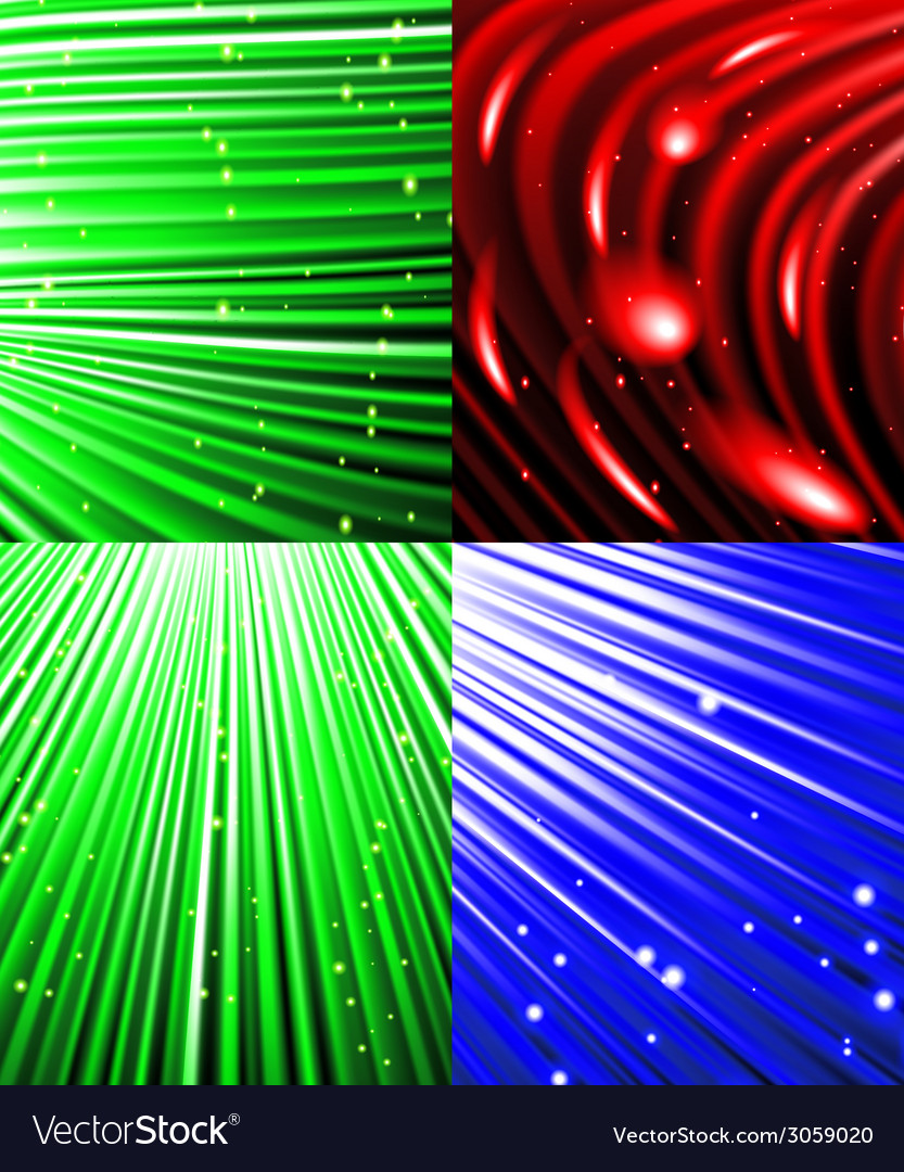 Set of background o colourful luminous rays vector   Price: 1 Credit (USD $1)