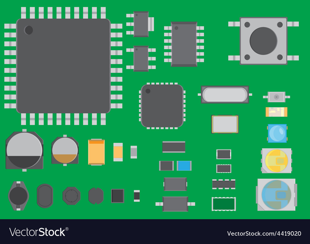 Surface mount technology component vector | Price: 1 Credit (USD $1)