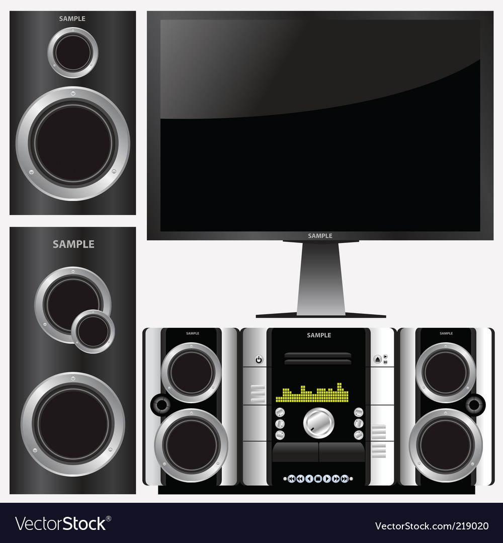Surround stereo system vector | Price: 1 Credit (USD $1)
