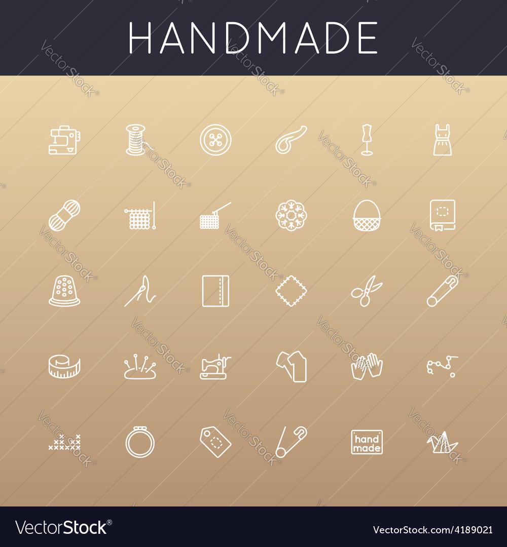 Handmade line icons vector | Price: 1 Credit (USD $1)