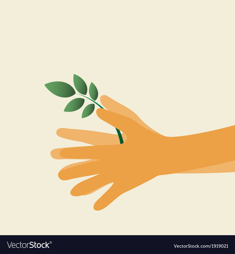Hands and plant icon vector | Price: 1 Credit (USD $1)