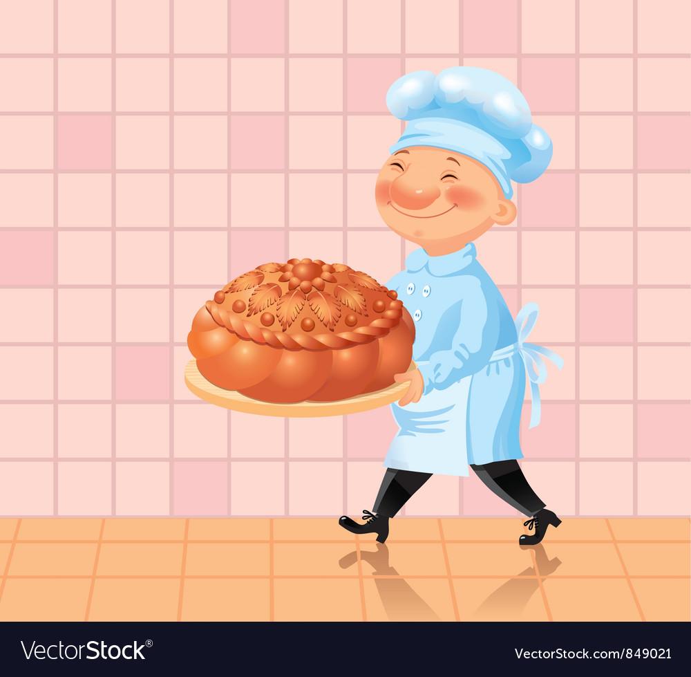 Happy chef vector | Price: 3 Credit (USD $3)