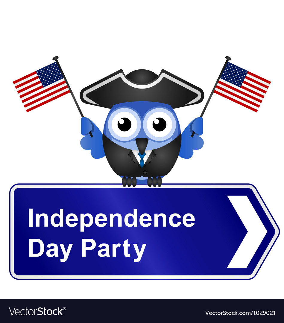 Independence day party sign vector | Price: 1 Credit (USD $1)