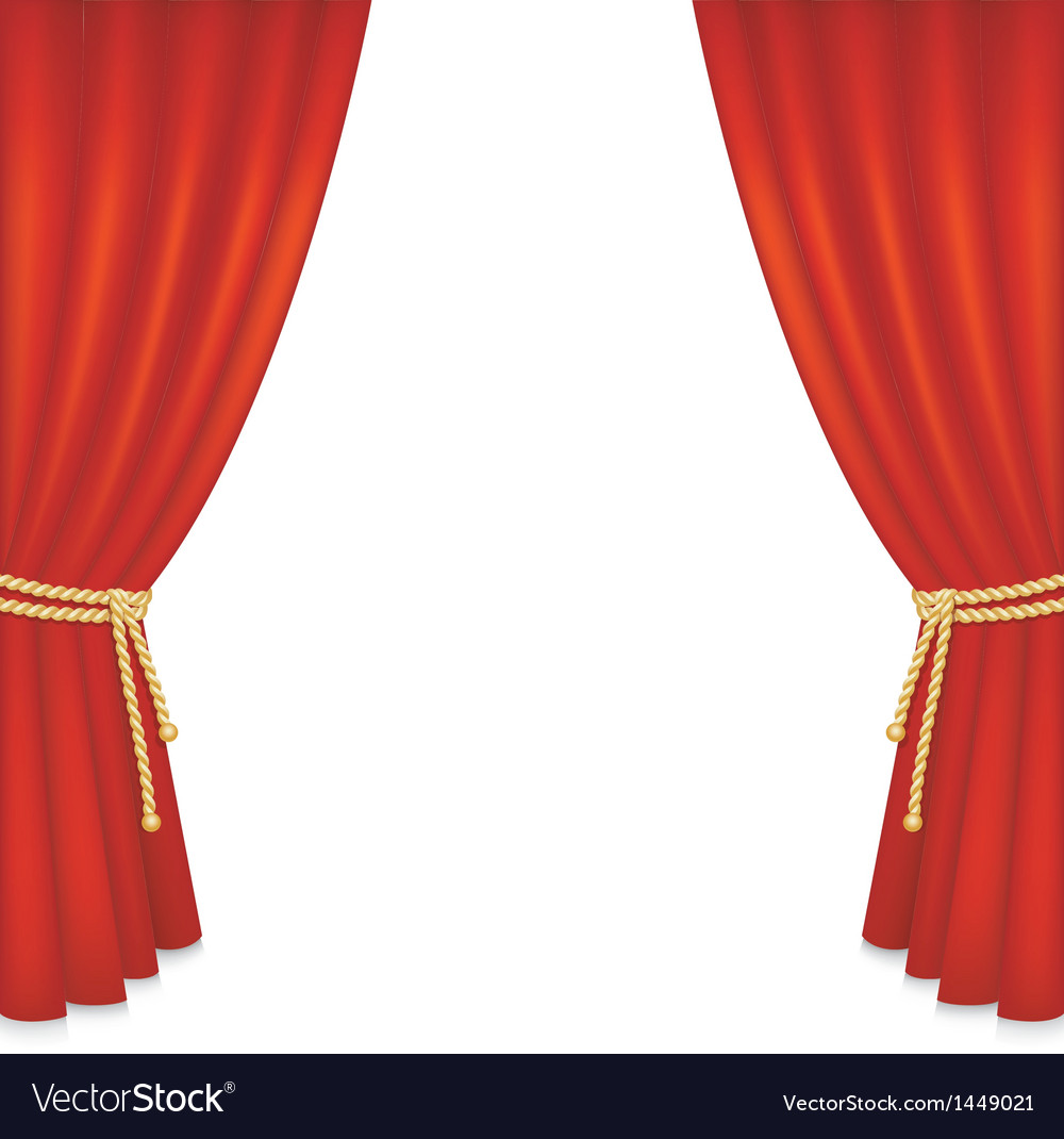 Realistic red velvet curtain vector | Price: 1 Credit (USD $1)