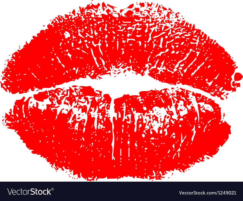 Red kiss print vector | Price: 1 Credit (USD $1)