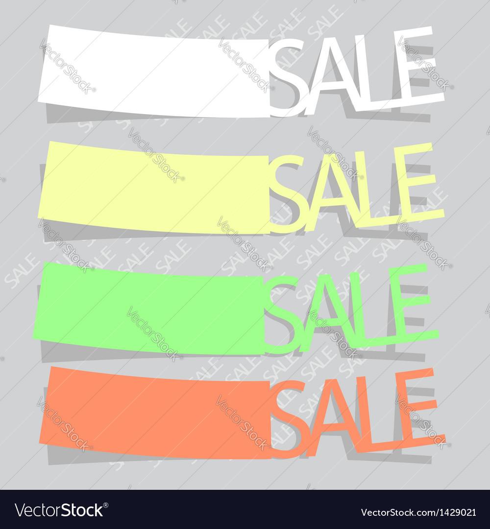 Sale labels vector | Price: 1 Credit (USD $1)