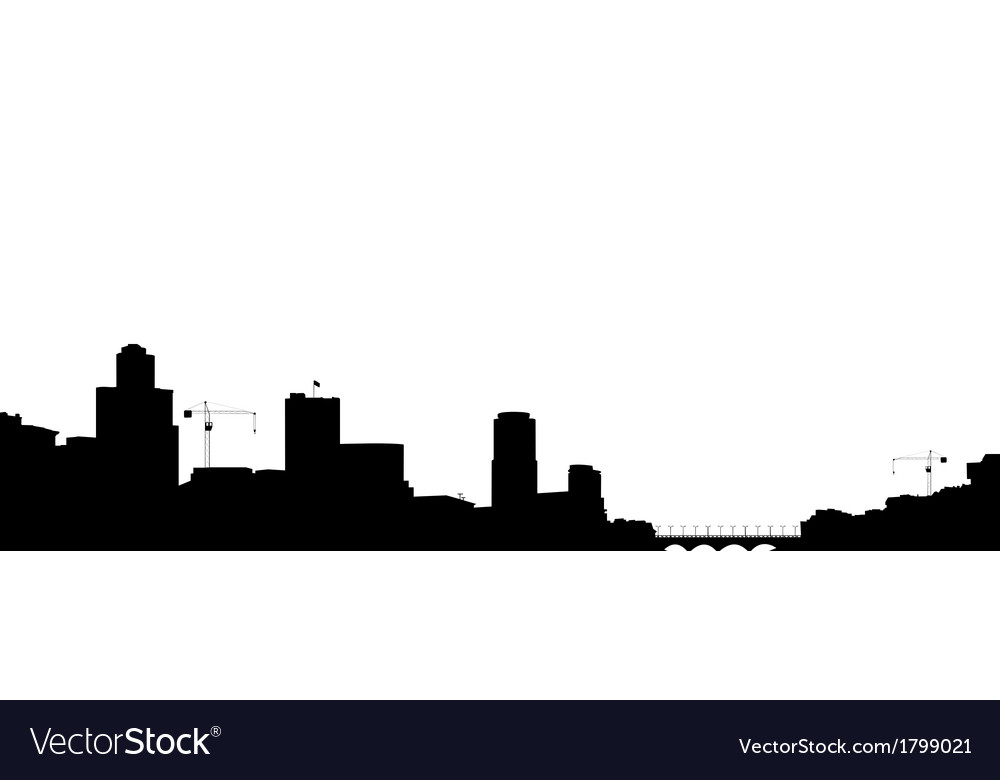 Silhouette of the town vector | Price: 1 Credit (USD $1)