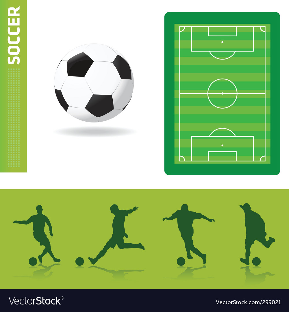 Soccer design elements vector | Price: 1 Credit (USD $1)