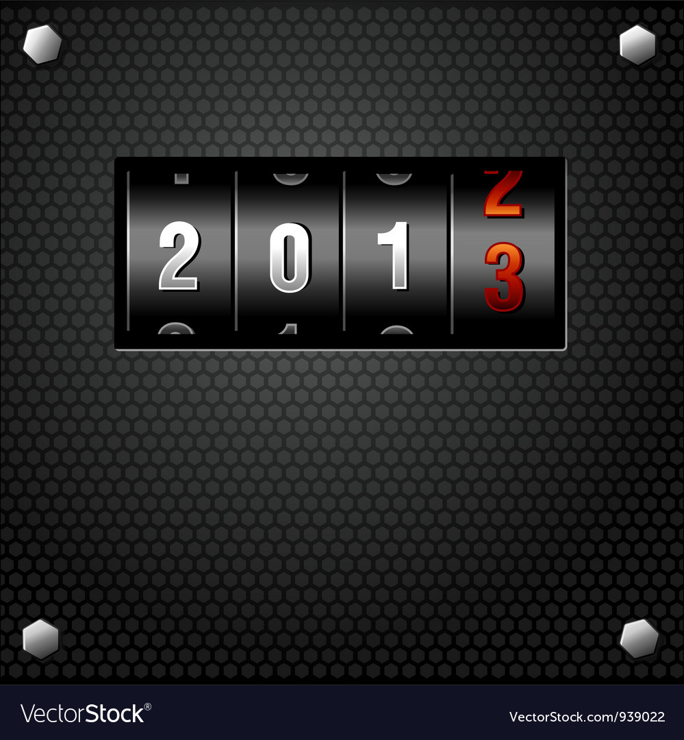 2013 new year analog counter vector | Price: 1 Credit (USD $1)