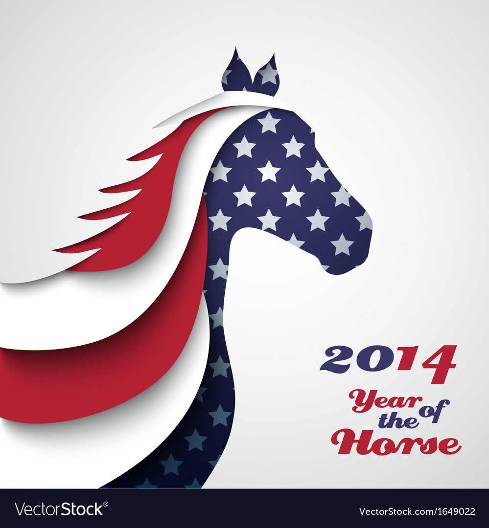 Abstract applique paper horse vector | Price: 1 Credit (USD $1)
