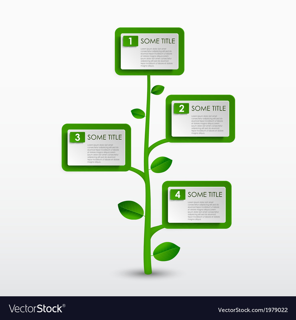 Abstract progress eco green tree template vector | Price: 1 Credit (USD $1)