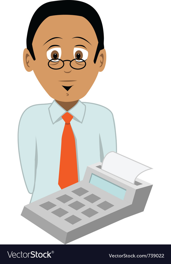 Accountant vector | Price: 3 Credit (USD $3)