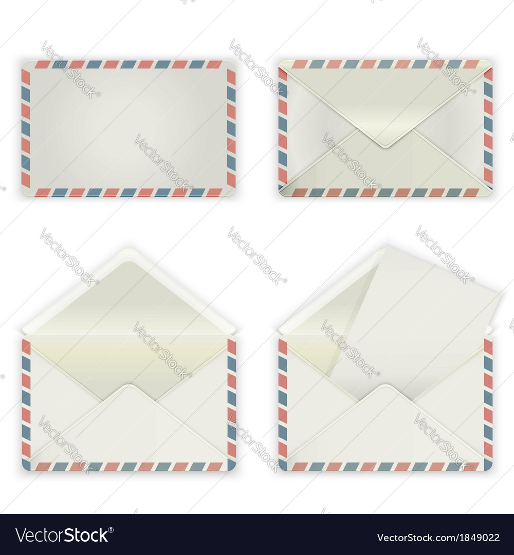 Broad envelope vector | Price: 1 Credit (USD $1)