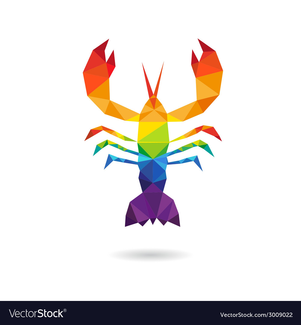 Crayfish abstract isolated vector | Price: 1 Credit (USD $1)