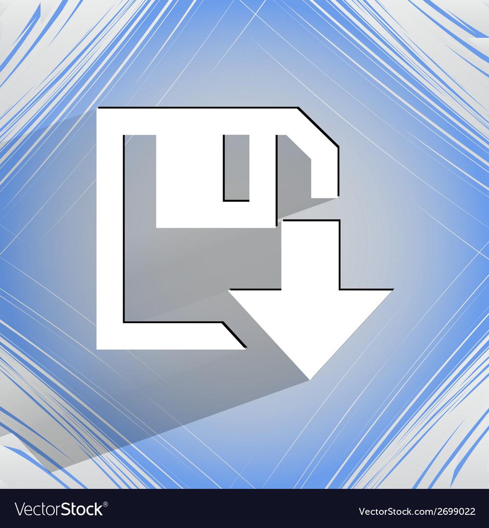 Floppy disk download flat modern web design on a vector   Price: 1 Credit (USD $1)