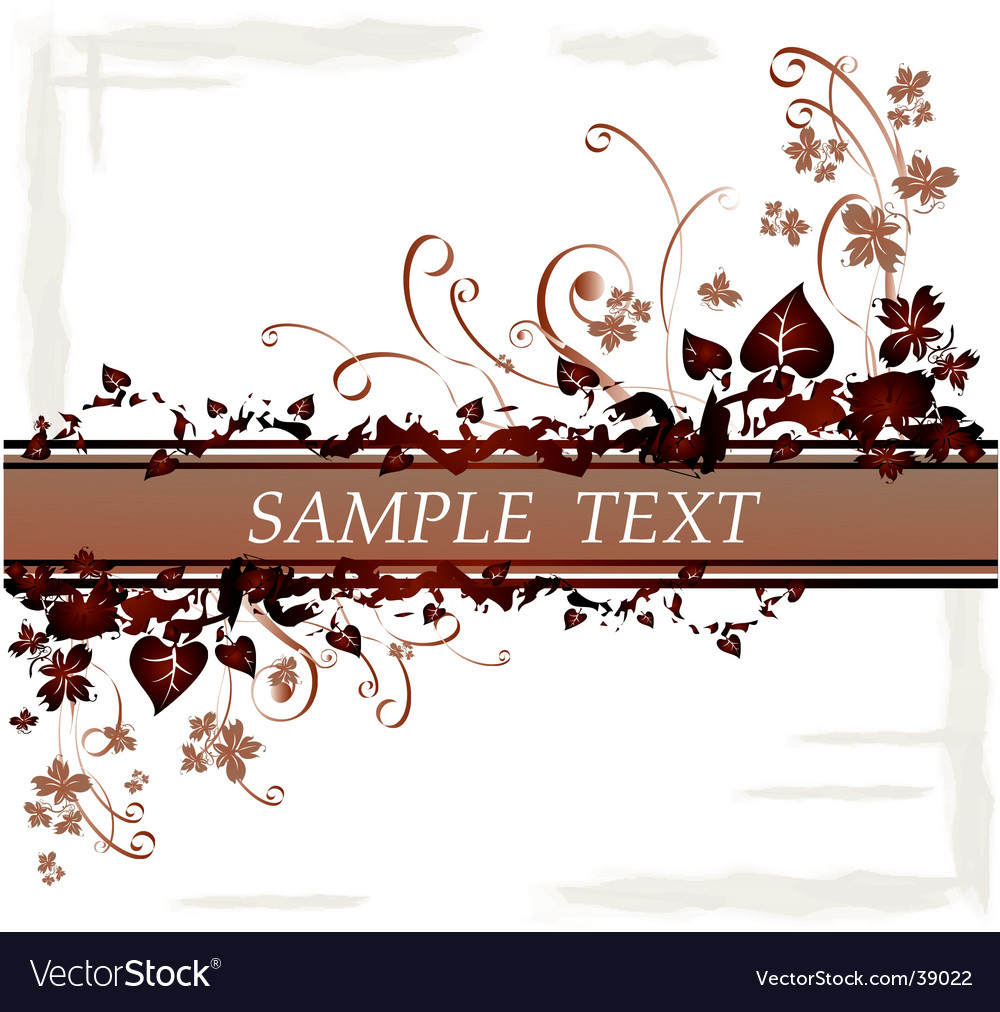 Floral leaves border vector | Price: 1 Credit (USD $1)