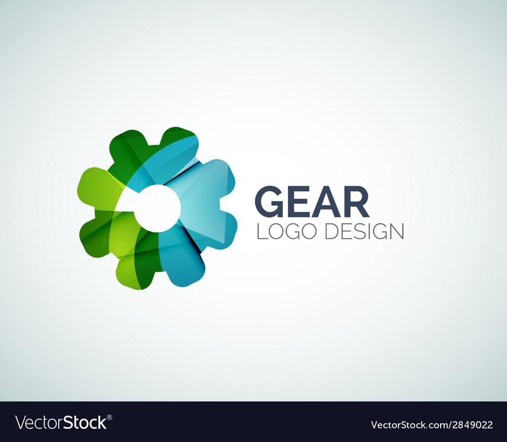 Gear logo design made of color pieces vector | Price: 1 Credit (USD $1)