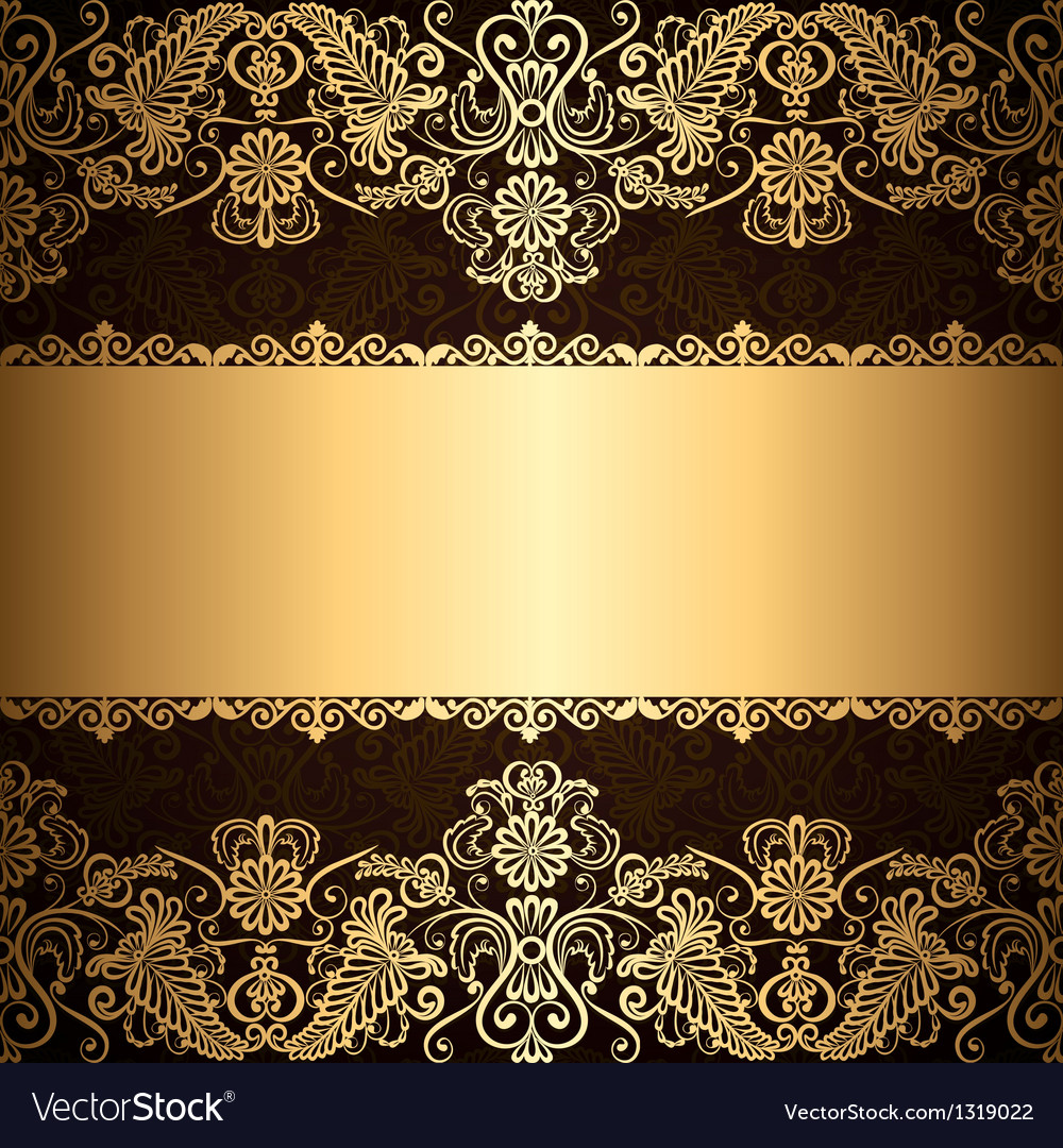 Gold patter border vector | Price: 1 Credit (USD $1)