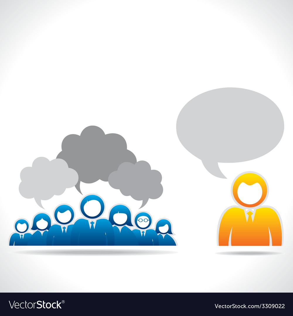 Meeting or discussion between group of people vector   Price: 1 Credit (USD $1)