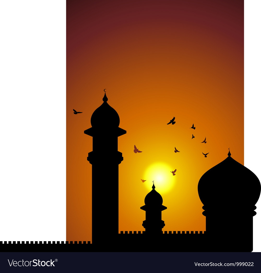 Mosque in asia vector | Price: 1 Credit (USD $1)