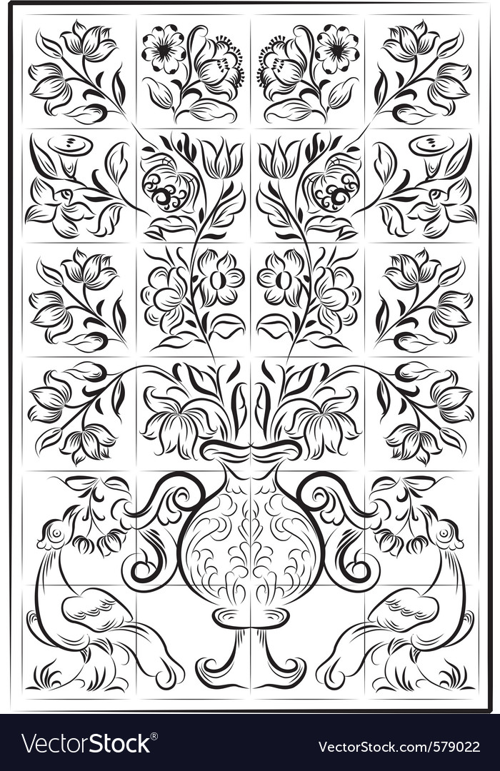 Portuguese old tiles vector   Price: 1 Credit (USD $1)