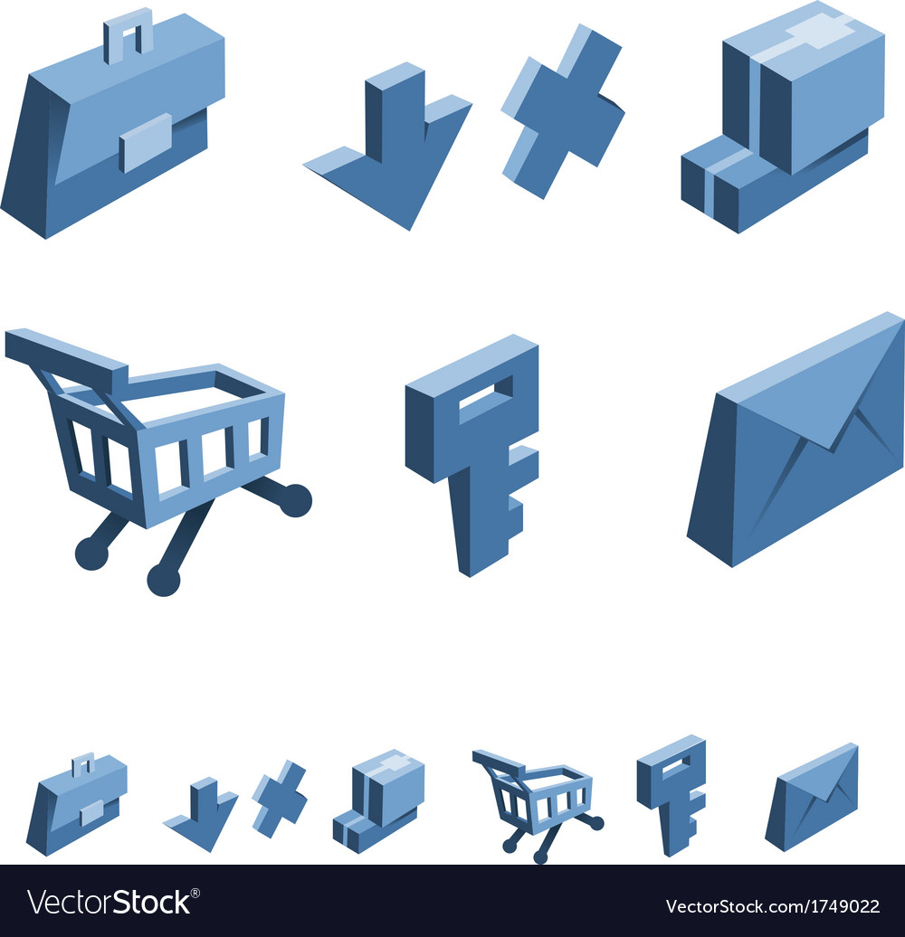 Shopping and business icon set vector   Price: 1 Credit (USD $1)