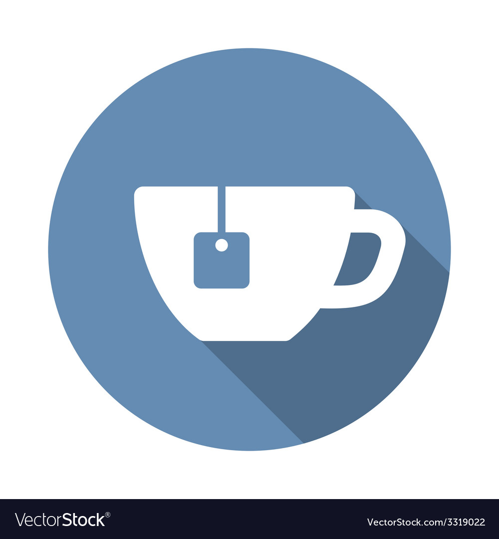 Tea cup icon in flat style vector | Price: 1 Credit (USD $1)