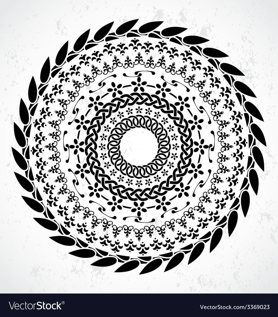 Artistic rounded ornament vector | Price: 1 Credit (USD $1)