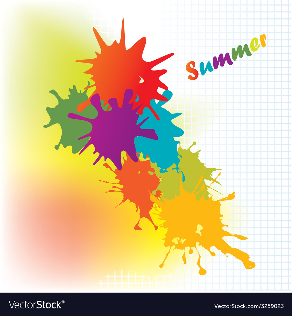 Colourful background on a summer subject vector | Price: 1 Credit (USD $1)