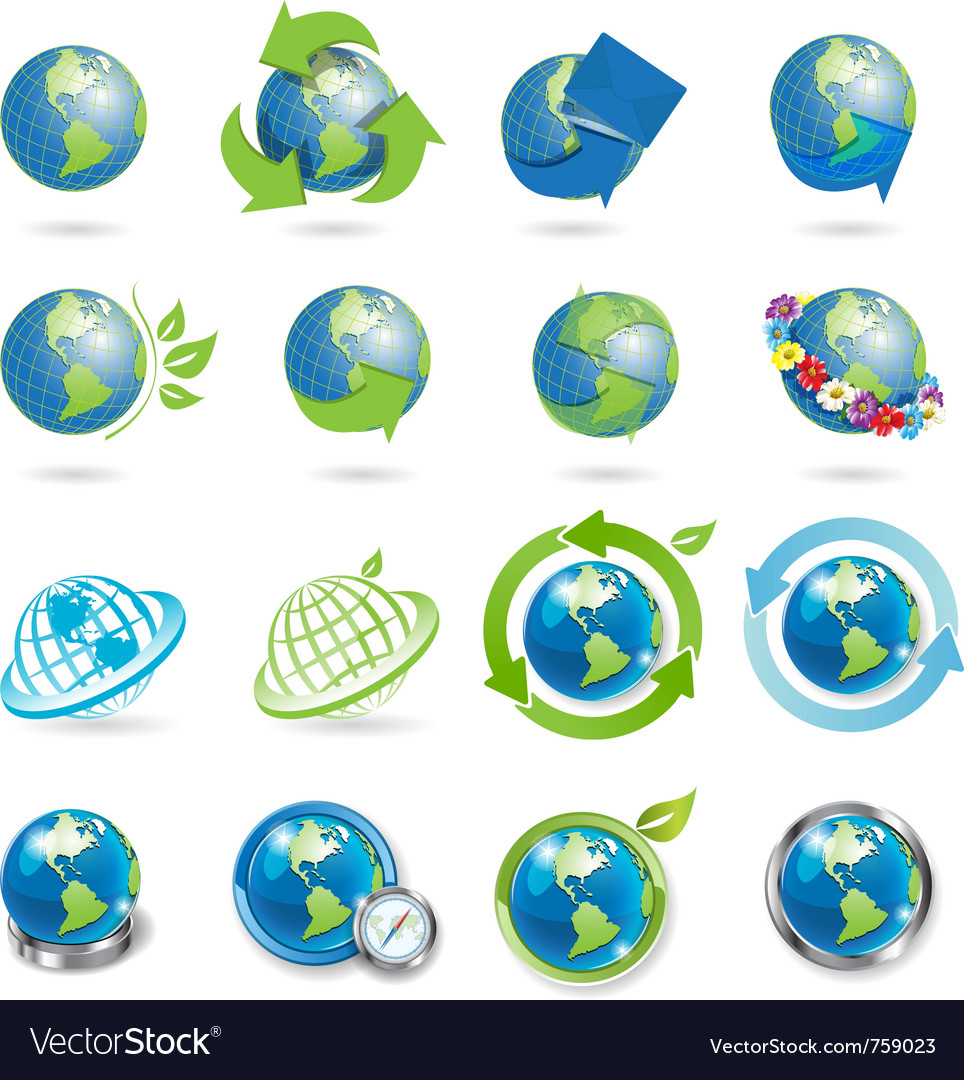 Globe icons vector | Price: 1 Credit (USD $1)