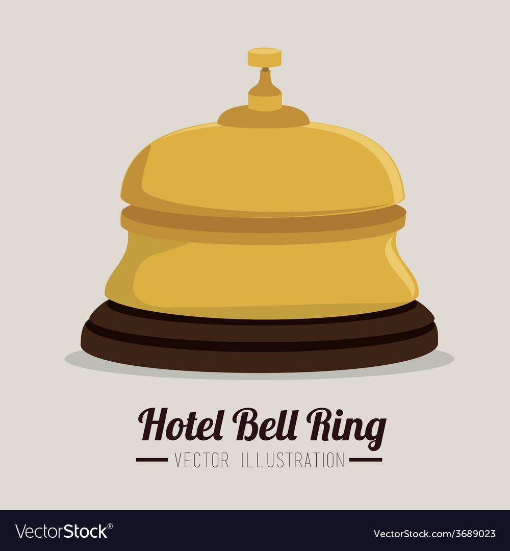 Hotel design over white background vector | Price: 1 Credit (USD $1)
