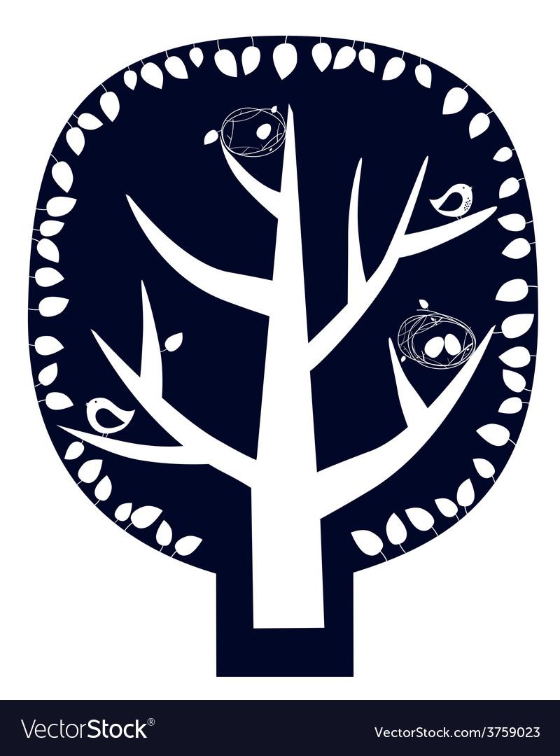 Magic tree sticker vector | Price: 1 Credit (USD $1)