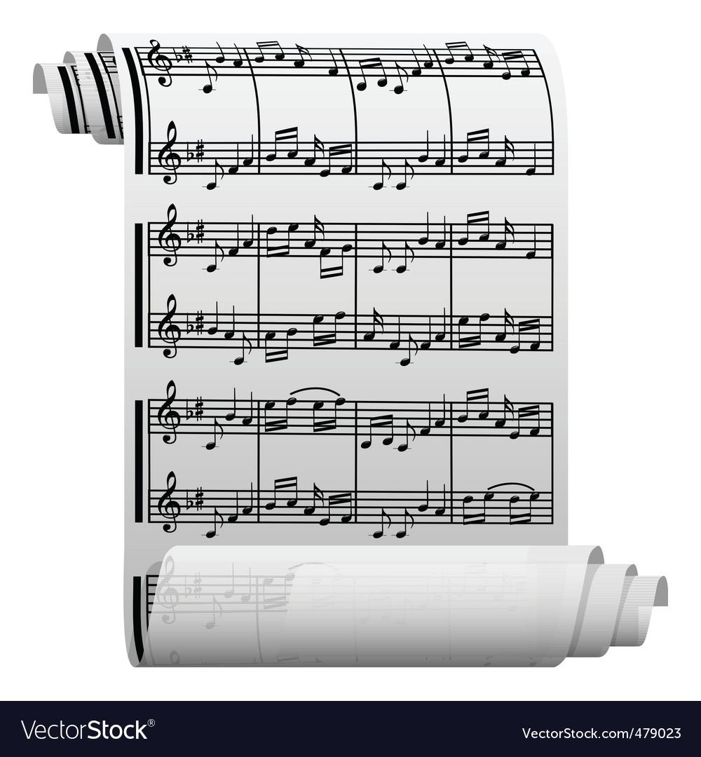 Music manuscript vector | Price: 1 Credit (USD $1)