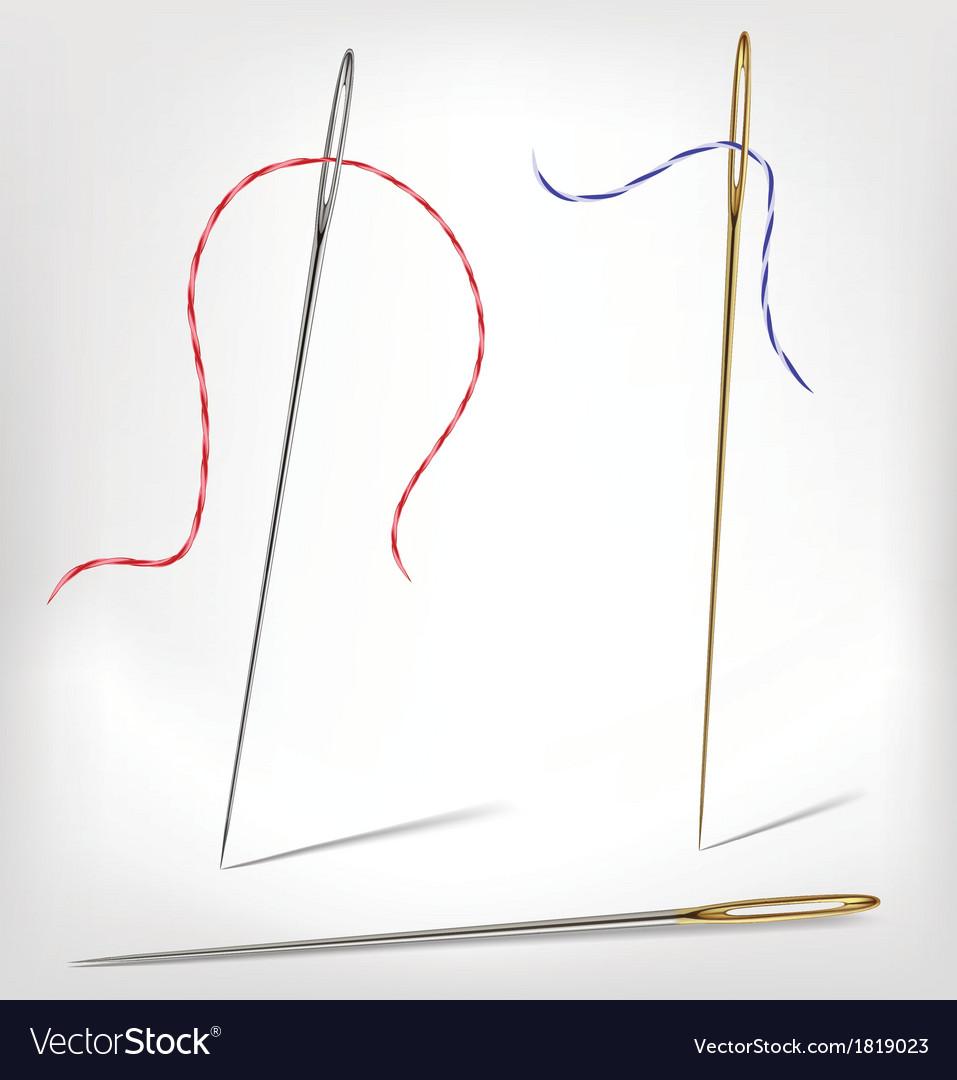 Needles with thread vector | Price: 1 Credit (USD $1)