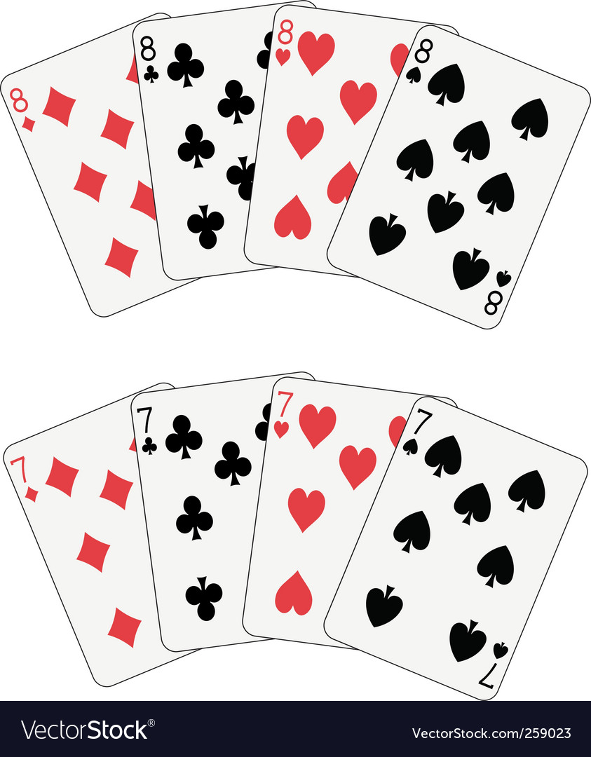 Poker eight and seven vector | Price: 1 Credit (USD $1)