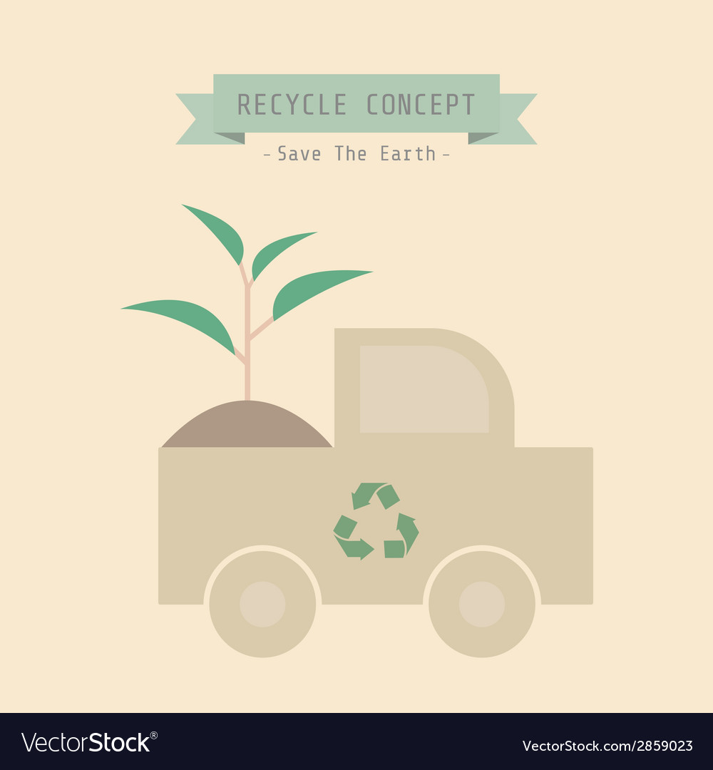 Recycle plant vector | Price: 1 Credit (USD $1)
